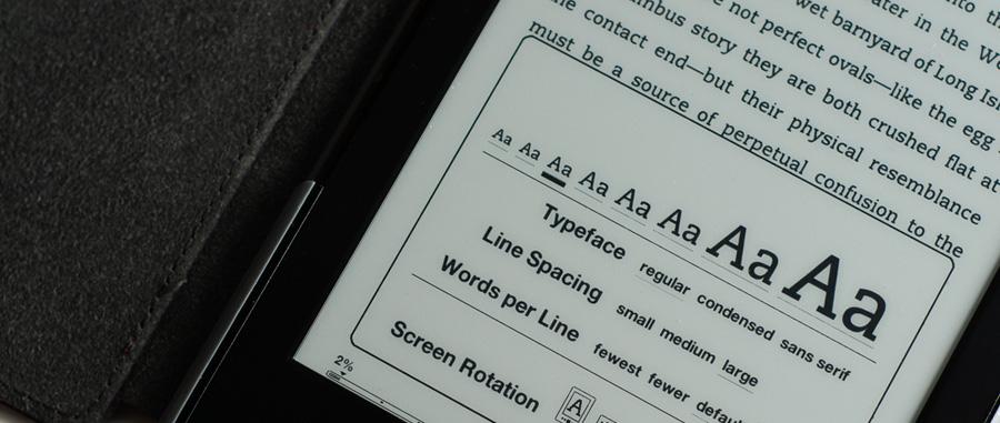 eBook fonts