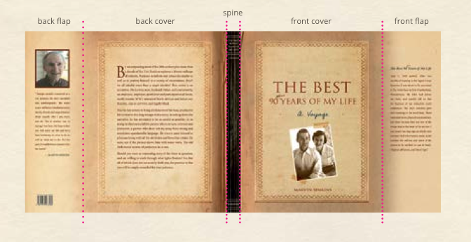 Book Cover Template With Flaps : Printed books how to prepare your graphic files for