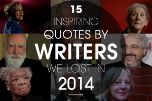 15 quotes from famous writers that died in 2014