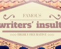 Famous writers' insults [infographic]