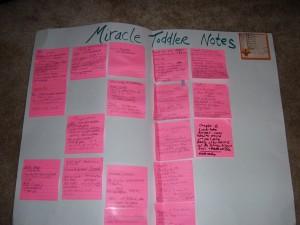 completing a novel - sticky notes