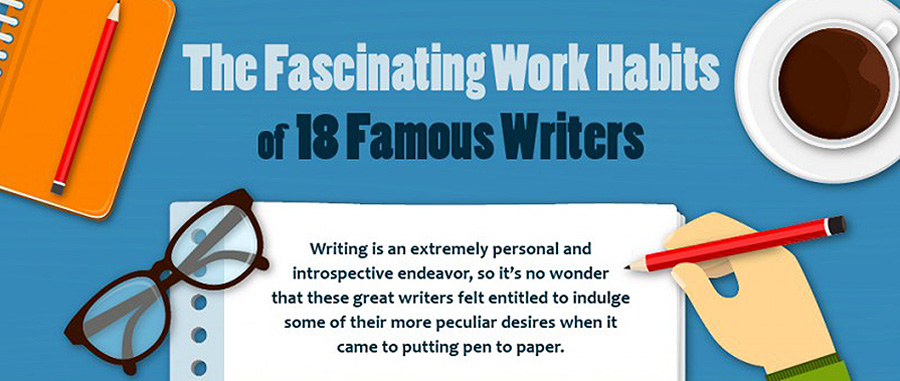 eccentric writing habits