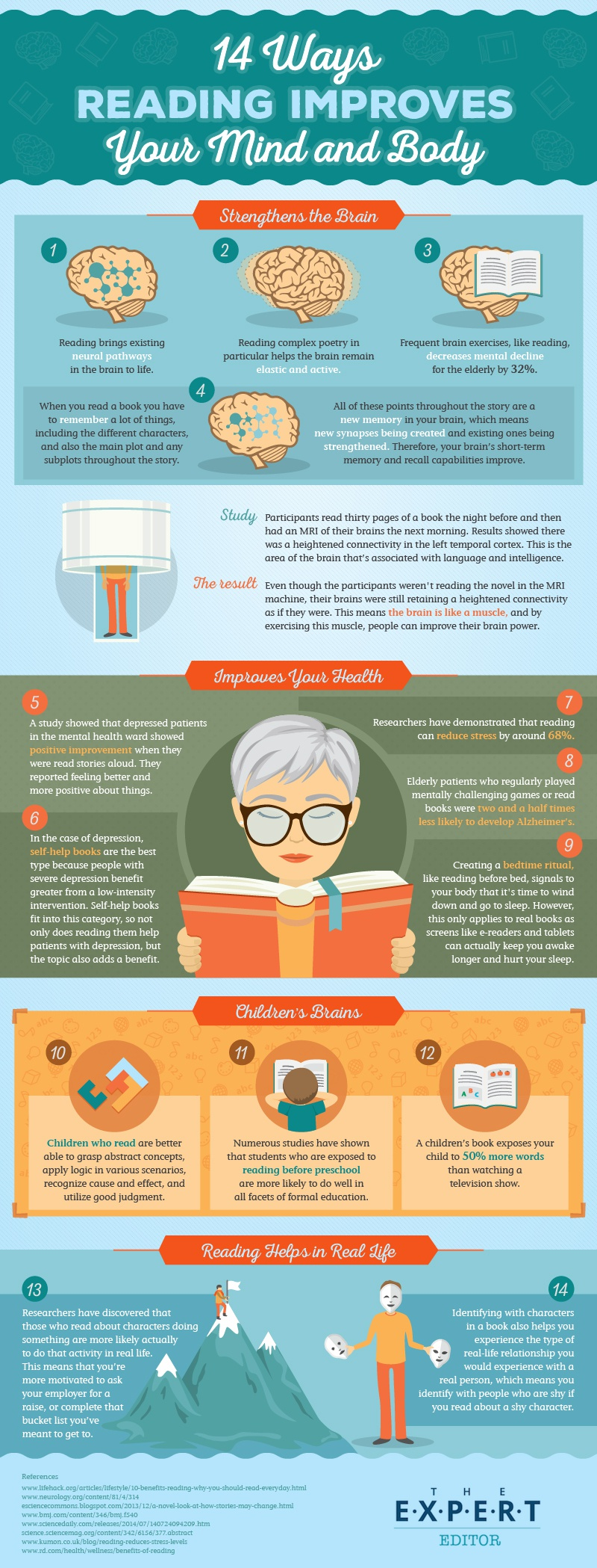 reading benefits infographic