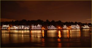 Philadelphia attractions Boathouse Row