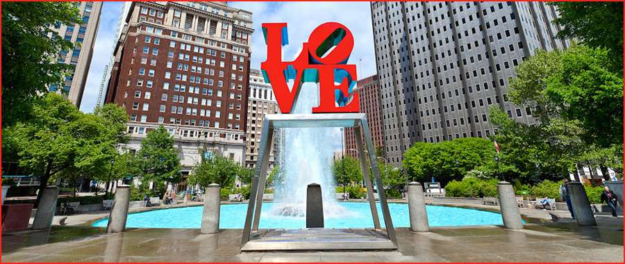 Philadelphia attractions Love Park