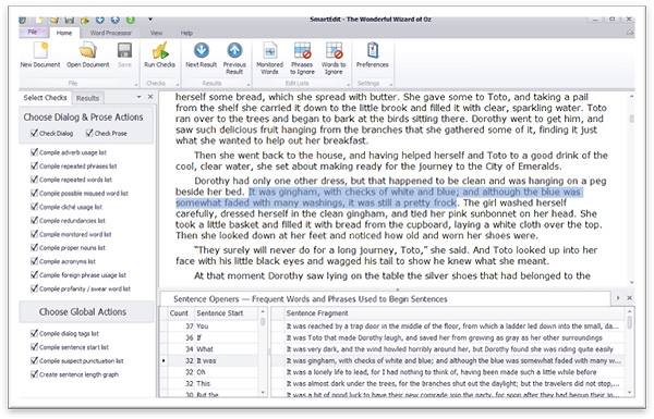 SmartEdit manuscript editing software
