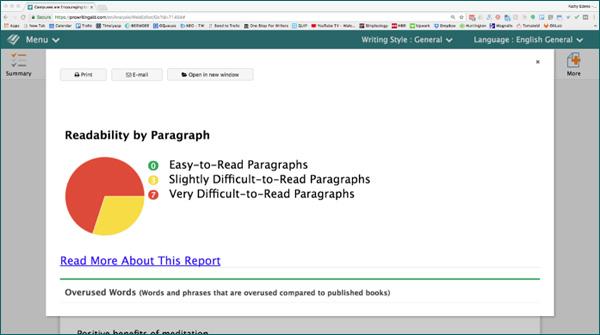 Editing Tool Readability