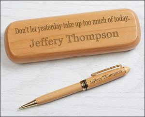 gift ideas for writers engraved pen
