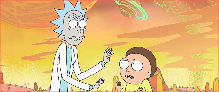 writing lessons from Rick and Morty